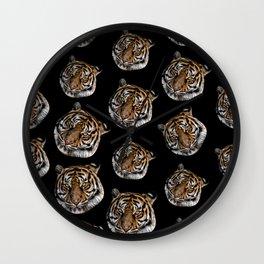 wild safari jungle animal tiger head Wall Clock