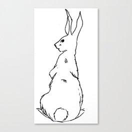 Black & White Bunny Canvas Print