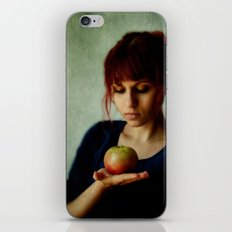 the girl with the apple iPhone Skin