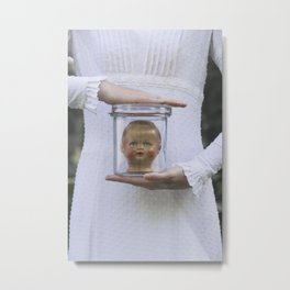 Doll in a jar Metal Print