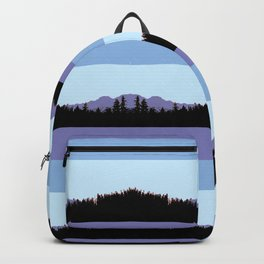 Abstract mountains horizons 2 Backpack