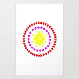 lighter flower Art Print