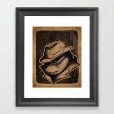 Anger Clouds The Mind Framed Art Print