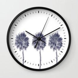 Three & Two Palm Trees Wall Clock