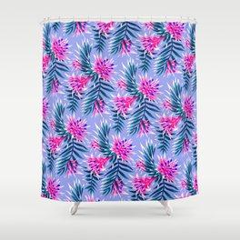 Aechmea Fasciata - Light Blue / Pink Shower Curtain