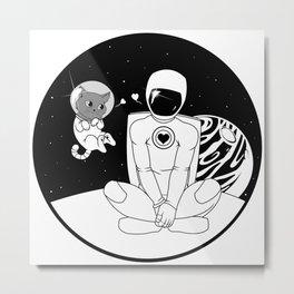 Space Cat - Love Metal Print