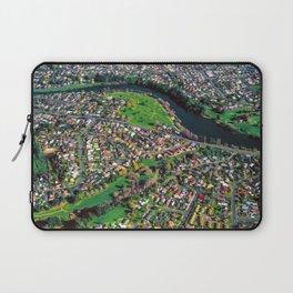Hamilton City, New Zealand - Aerial view  Laptop Sleeve