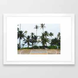 Basketball on Isla Bastimento, Bocas del Toro, Panama Framed Art Print