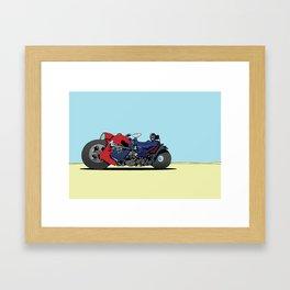 dredd bikez Framed Art Print