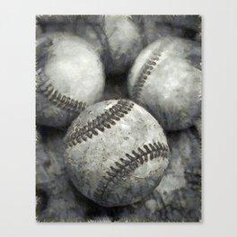 Baseball Pencil Canvas Print