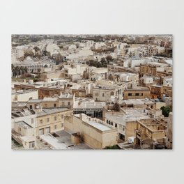 Buildings in Malta Canvas Print