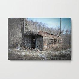 Lonely Railcar Metal Print