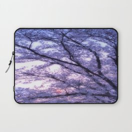 Periwinkle Lavender Flower Tree Laptop Sleeve
