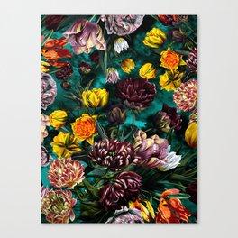 Botanical Multicolor Garden Canvas Print