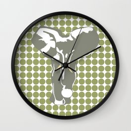 Green Safari Dot with Pop Art Elephant Wall Clock
