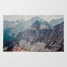 Jagged peaks and rocky slopes in The Tatra Mountains Rug