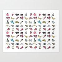 Foodie pattern Art Print
