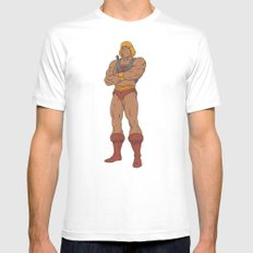 He-Man 90's Show White Mens Fitted Tee X-LARGE