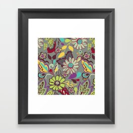 Large Bright Blooms Framed Art Print