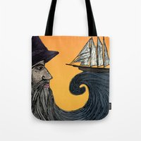 wizard Tote Bags featuring Wizard by Brittany Rae