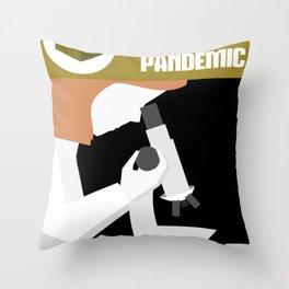 Pandemic - Yellow Throw Pillow