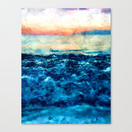 Sea And Sunset Canvas Print
