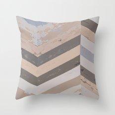 Reclaimed Barnwood Herringbone Pattern Throw Pillow