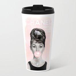 Audrey Hepburn Bubble Travel Mug