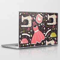 sewing Laptop & iPad Skins featuring Vintage Sewing by Poppy & Red