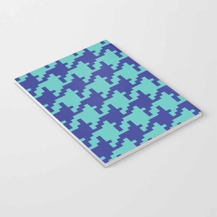 Houndstooth - Blue & Turquoise Notebook