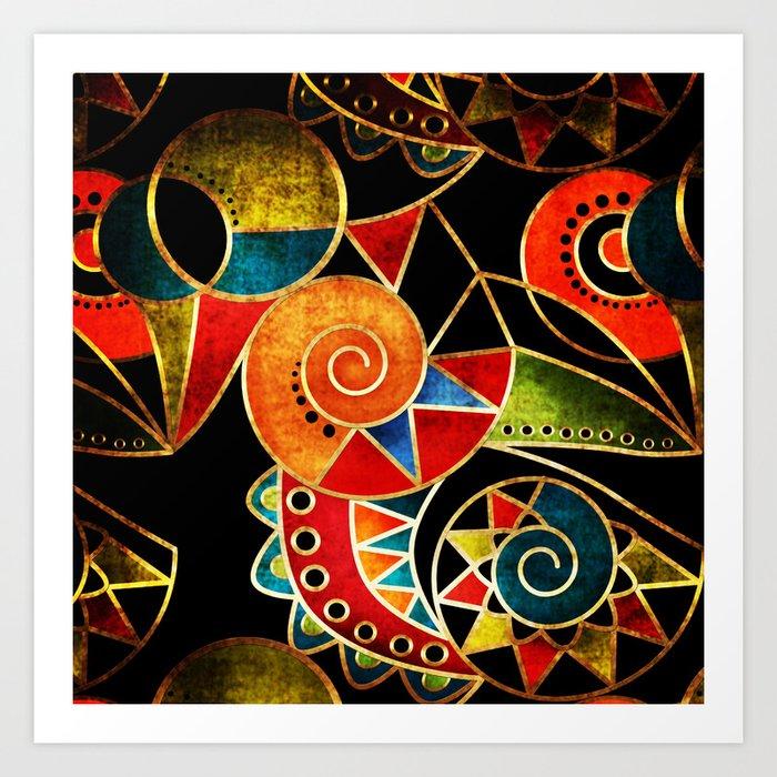 Abstraction - Carnival Art Print
