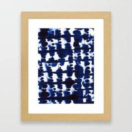 Parallel Indigo Framed Art Print