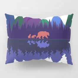 Bear & Cubs Blue Moon Pillow Sham