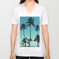 palm trees V-neck T-shirts featuring Palm Trees by Whitney Retter