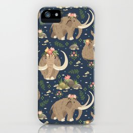 Cute mammoths iPhone Case