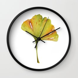 Gingko Leaf Wall Clock