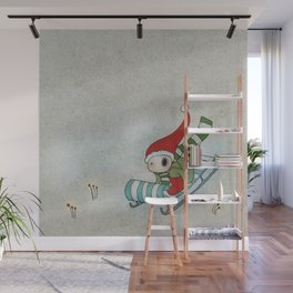 Sliding Through the Frosty Weather Wall Mural