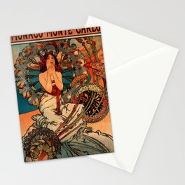 "Alphonse Mucha ""Monaco Monte Carlo"" Stationery Cards"