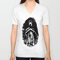 ghost V-neck T-shirts featuring Ghost by Art is Vast