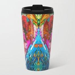 Colorful Heart Art - Everlasting - By Sharon Cummings Travel Mug