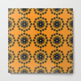 desktop abstract template flower Metal Print