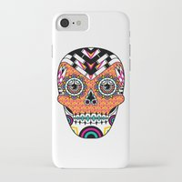 deco iPhone & iPod Cases featuring Deco Skull by Jorge Garza