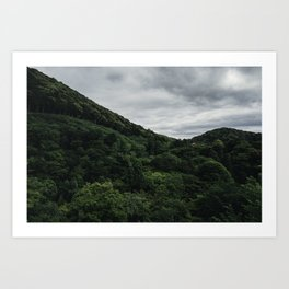 Temple in the Trees. Art Print