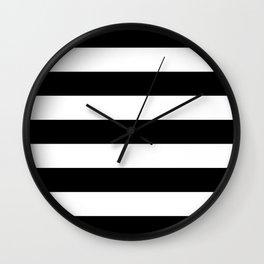 BLACK & WHITE STRIPES XL Wall Clock