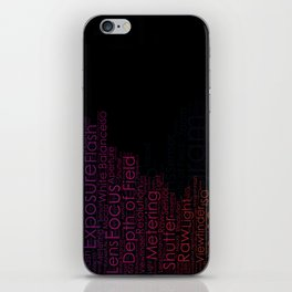 Photography Terms Word Cloud Histogram iPhone Skin
