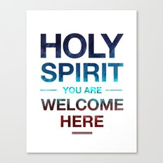 Holy Spirit: Blue Cyan Red Canvas Print