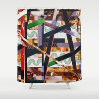 ruben Shower Curtains featuring Ruben (stripes 19) by Wayne Edson Bryan