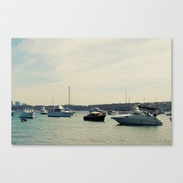 Take the yacht out for lunch Canvas Print