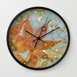 Perky Maple Leaf Abstract Wall Clock