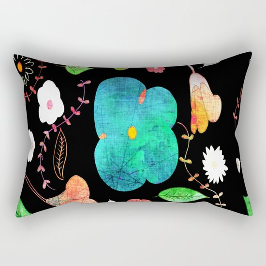 Japaneses midnight garden Rectangular Pillow